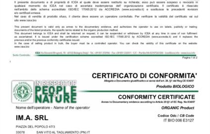 Certificazione Caffè PEPITA BIO